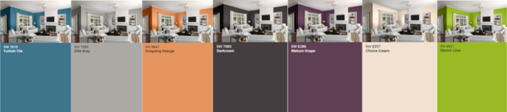 Our Interior Paint Color Palette