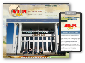Antelope Club site screens